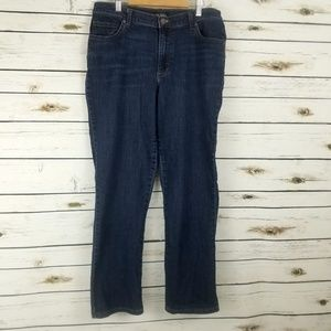 Lee Jeans Dark 10 Short Straight Leg Relaxed Fit